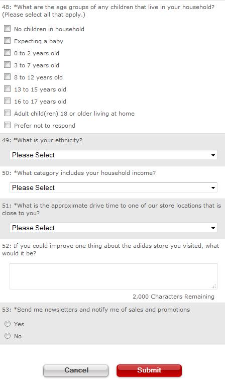 Adidas Customer Satisfaction Survey