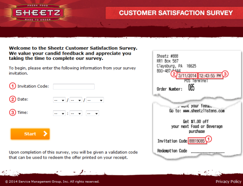 Sheetz Customer Satisfaction Survey