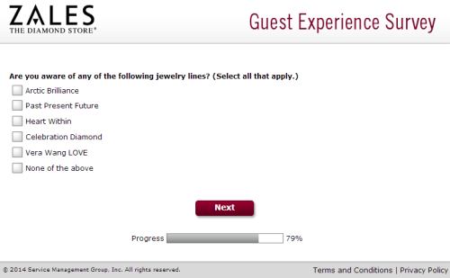 Zales Outlet Guest Experience Survey