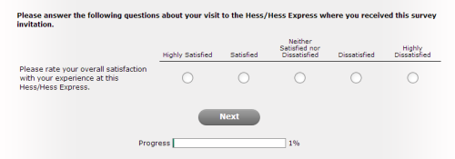 Hess Express Guest Satisfaction Survey