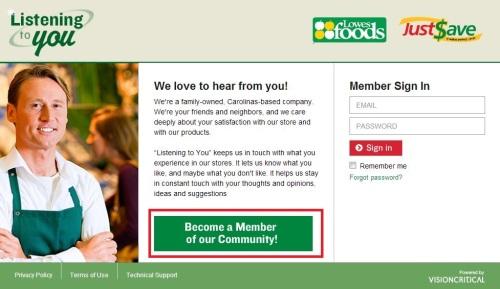 Lowes Foods Customer Feedback Survey