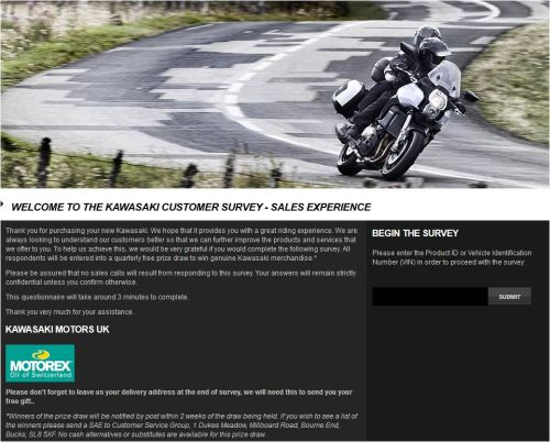 Kawasaki Customer Satisfaction Survey