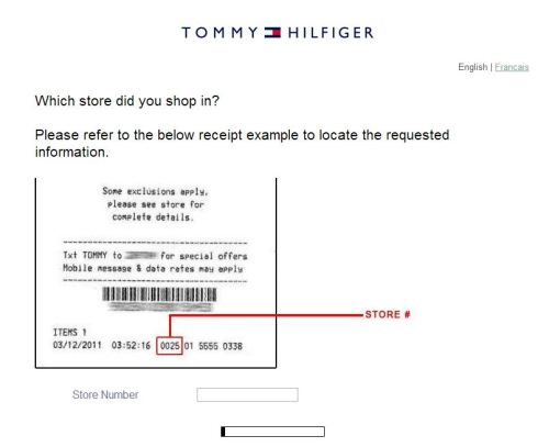 Tommy Hilfiger Customer Satisfaction Survey