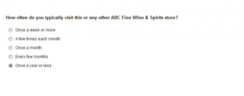 ABC Fine Wine & Spirits Customer Survey