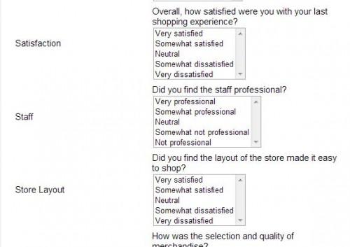 Martin's Family Clothing Customer Satisfaction Survey
