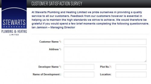 Stewarts Plumbing & Heating Limited Customer Satisfaction Survey