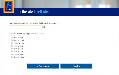 ALDI Customer Feedback Survey