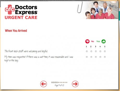 AFC Doctor Express Guest Feedback Survey