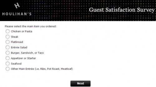 Houlihan's Guest Satisfaction Survey