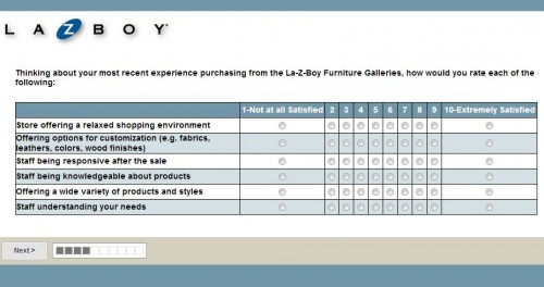 La-Z-Boy Store Guest Satisfaction Survey