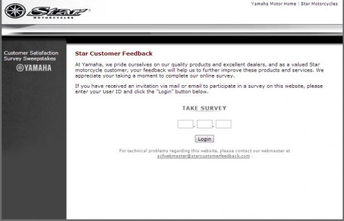 Star Motorcycles Customer Feedback Survey