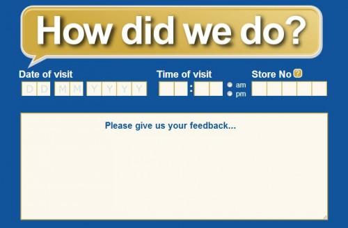 Tesco Customer Feedback Survey