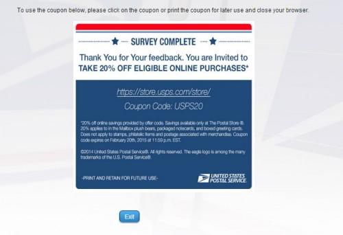 USPS Guest Experience Survey