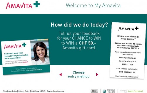 Amavita Customer Satisfaction Survey