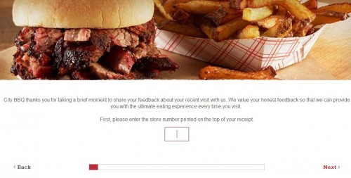 City Barbeque Customer Feecback Survey