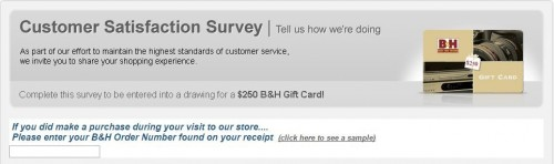 B&H Customer Satisfaction Survey
