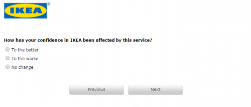 IKEA Customer Feedback Survey