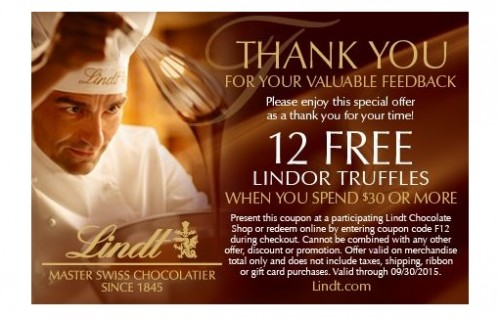 Lindt & Sprüngli Customer Satisfaction Survey