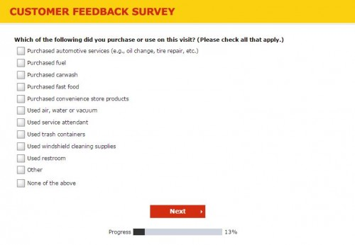 Shell US Customer Feedback Survey