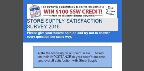 Store Supply Warehouse Customer Satisfaction Survey
