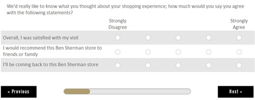 Ben Sherman Customer Satisfaction Survey