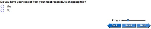 BJ's Customer Receipt Survey