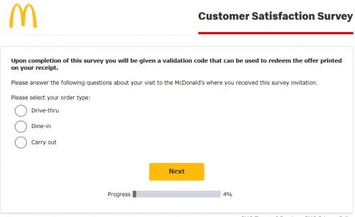 McDonald's Satisfaction Survey