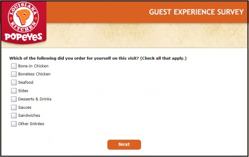 Popeyes Customer Survey1